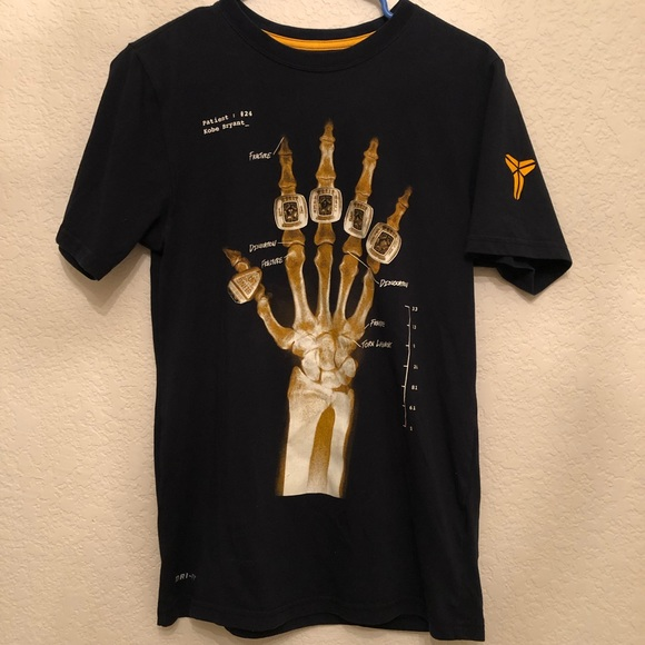 5c84db32 Nike Dri-Fit Shirts | Nike Kobe Bryant Rings Dri Fit Xray Hand Black ...